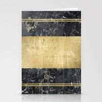 marble in gOld Stationery Cards