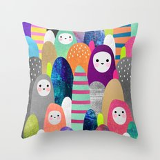 Pebble Spirits Throw Pillow