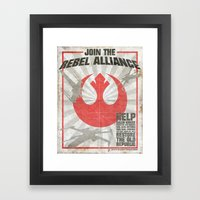Join the Rebel Alliance Framed Art Print