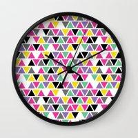 Pop Triangles Wall Clock