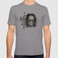 The Dude - Big Lebowski INK Mens Fitted Tee Athletic Grey SMALL