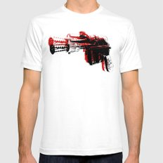 Blaster III White SMALL Mens Fitted Tee