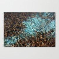 Aqua And Brown Color Pho… Canvas Print