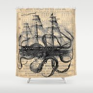Octopus Kraken Attacking… Shower Curtain