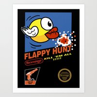 Flappy Hunt Art Print