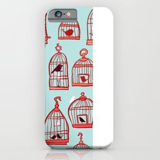 Bird Cages on Blue iPhone 6s Slim Case