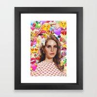 LANA DEL EMOJI Framed Art Print