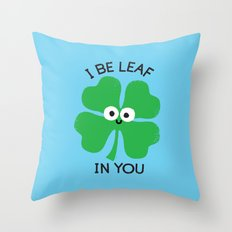 Cloverwhelming Support Throw Pillow