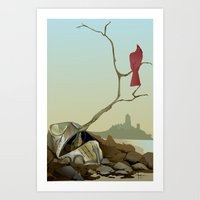 CARDINAL LOOMS Art Print