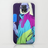 Galaxy S5 Cases featuring GAME OF THRONES 80/90s ERA CHARACTERS - White Walker by Mike Wrobel