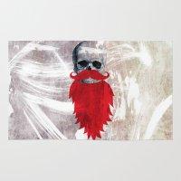 Beard Skull Rug
