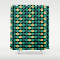 Glitzy Greens Shower Curtain
