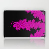 pink and black fractal Laptop & iPad Skin