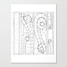 Original Sketch Series - Erosion Patterning Canvas Print