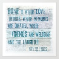 Home Of Love And Laughte… Art Print
