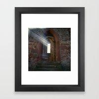 Limburg with Light Leak Framed Art Print