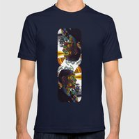 Psychoactive Bear 8 Mens Fitted Tee Navy SMALL