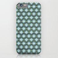 Navy Graphic Flower iPhone 6 Slim Case