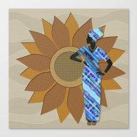 Sunflower Lady Canvas Print