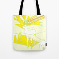 How High Can Deer Jump Tote Bag
