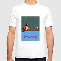Pocahontas Mens Fitted Tee White SMALL