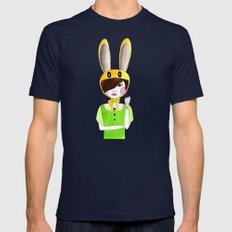 Zelda Mens Fitted Tee Navy SMALL