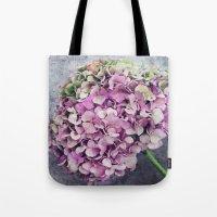 Rustic Hydrangea Tote Bag