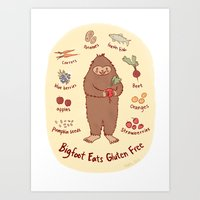 Bigfoot Eats Gluten Free Art Print
