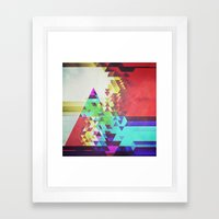 Triangle Lover Framed Art Print