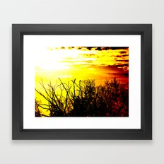 lonely crow Framed Art Print