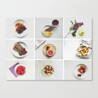Canvas Print featuring Morning stories - FRUIT set by Lucia Jesenská