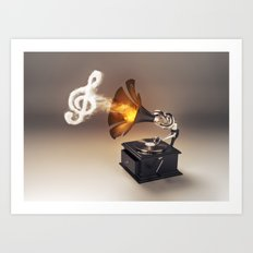 let the music play (just keep the groove) Art Print