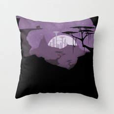 Abandoned city Throw Pillow
