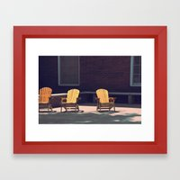 Yellow Chairs Framed Art Print