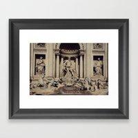 Trevi Fountain Framed Art Print