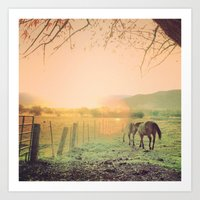 country life  Art Print