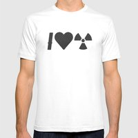 I Love Radiation Mens Fitted Tee White SMALL