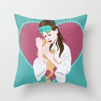 Holly Golightly's cat / Audrey Hepburn Throw Pillow