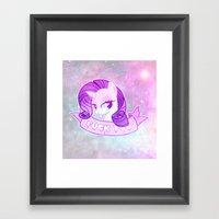 GRUNGE Rarity Framed Art Print
