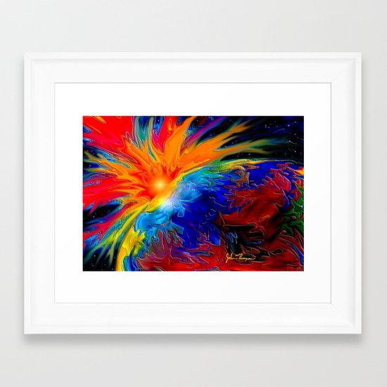 Massive ejection Framed Art Print