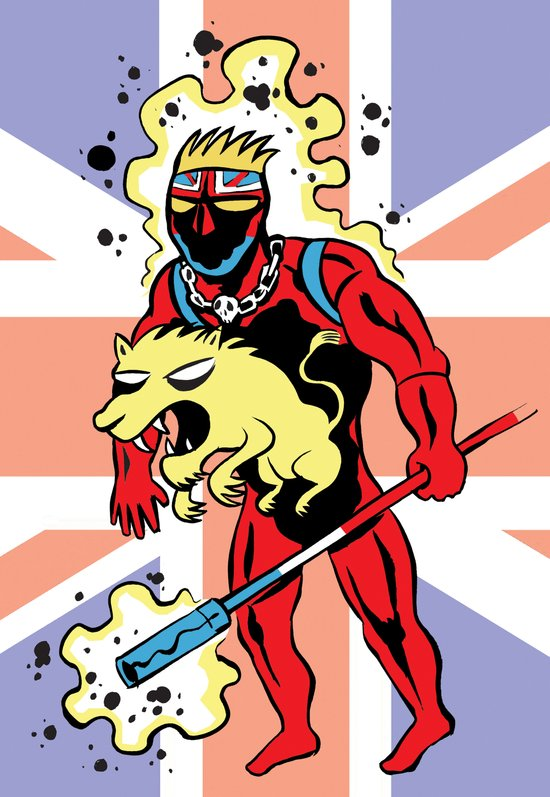 CAPTAIN BRITAIN Art Print