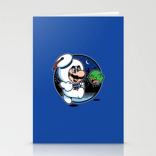 Super Marshmallow Bros. Stationery Card