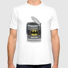 Batsoup Mens Fitted Tee SMALL White