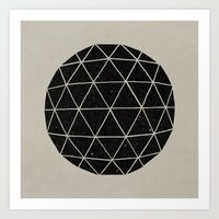triangle Art Prints featuring Geodesic by Terry Fan