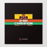 8-Bit Champion Canvas Print