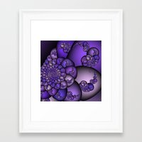 Perplexity of Purple Framed Art Print
