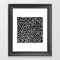 British Mosaic Black And… Framed Art Print