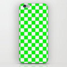 Checker (Green/White) iPhone & iPod Skin
