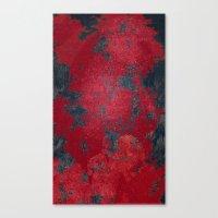 Blood Pixel Whisper Canvas Print