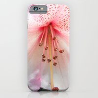 iPhone & iPod Case featuring Light pink azalea or rhododendron flower. floral botanical garden photography. by NatureMatters
